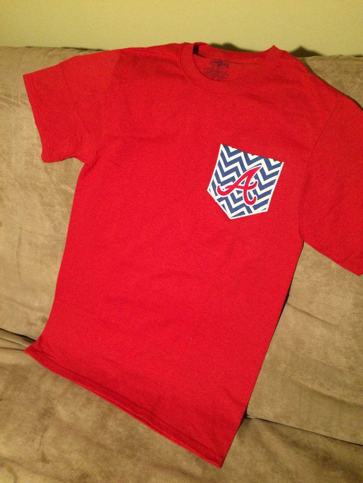 Atlanta #Braves Red #Pocket T-Shirt - #Pocket Tee - MLB shirt - Custom Team #Tshir,  View more on the LINK: http://www.zeppy.io/product/gb/3/219215611/