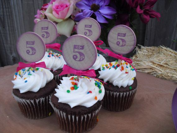 SET OF 12 Princess Birthday Cupcake Toppers by dazzlingexpressions, $16.00