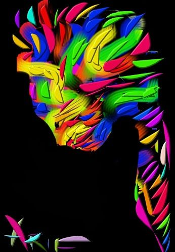 ARTIST 'ARIF MODIN' ART CALED 'DISGUISED!!' #mask#camouflage#Halloween  shared on google+