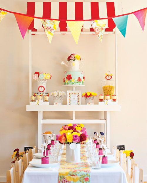 Flower Market Birthday Party Thepartydressmagazine