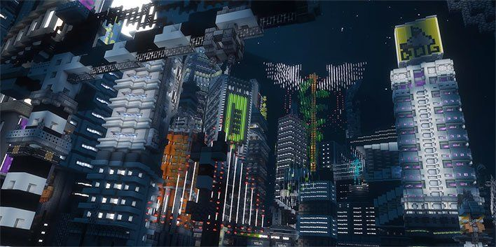 Minecraft Enthusiasts Build A Fantastic Cyberpunk 2077 Inspired Future City You Can Explore Soon Future City Minecraft Minecraft Modern