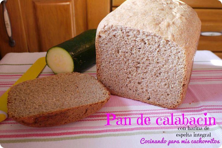 Pan de calabacín {con queso y harina de espelta integral} ~ Cocinando para mis cachorritos
