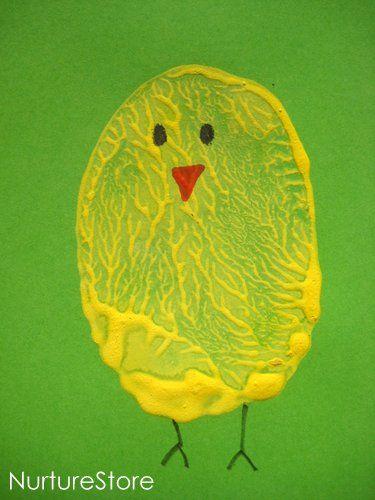 Craft activities for children :: Easter potato printing - NurtureStore
