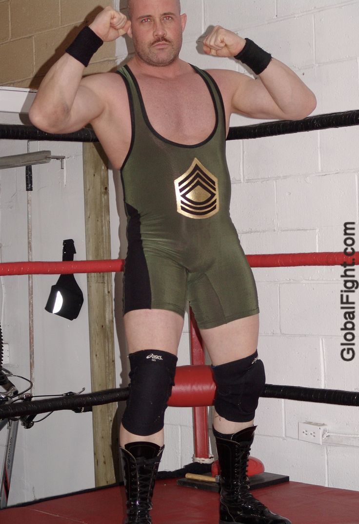 gay wrestling singlet man