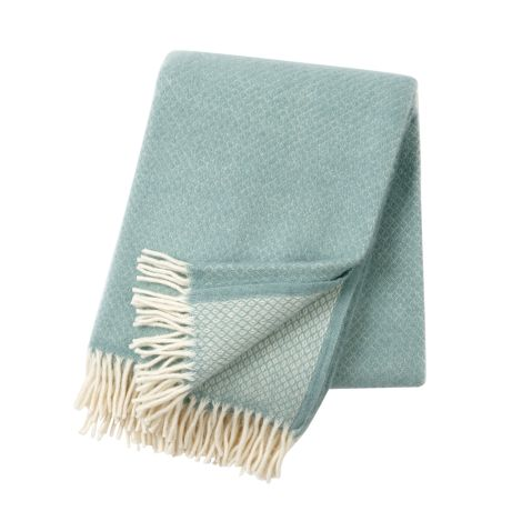 Vega duck egg blue, Woven Wool Throw