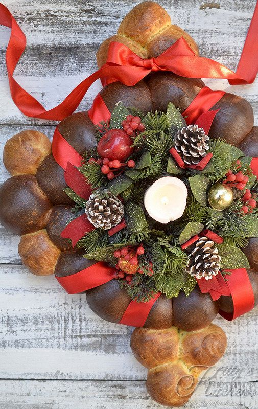 centrotavola di pane per Natale