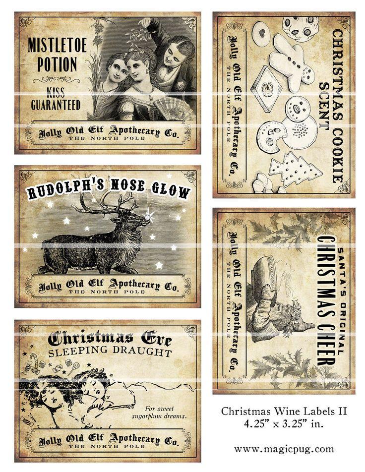 Dieses Angebot gilt für drei 8,5 x 11 Blatt mit fünfzehn Wein-Etiketten. Jedes Etikett ist 4,25 x 3,25 in der Größe eines Etiketts für eine Norm Weinflasche. Jeder hat die phantasievolle Weihnachtsprodukte wie Rudolphs Nase glühen, Weihnachtsstimmung, Mistel trank und vieles mehr.   Hallo Hallo--Danke für den Blick! Bitte beachten Sie, dass dies ein Angebot für eine digitale Datei ist. Sobald Sie Ihre Bestellung bezahlt haben, senden Etsy Sie eine e-Mail mit einem Download-Link. Ihre Dateien…