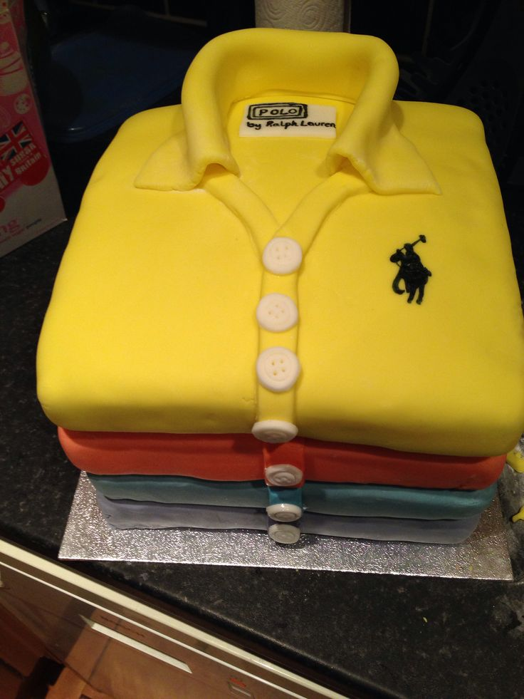 How To Make A Polo Shirt Fondant Cake