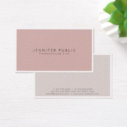 Beauty Salon Modern Elegant Pearl Finish Luxury Business Card - professional gifts custom personal diy