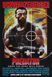 Predator starring super action hero Arnold Schwarzenegger. The first film of it's kind.