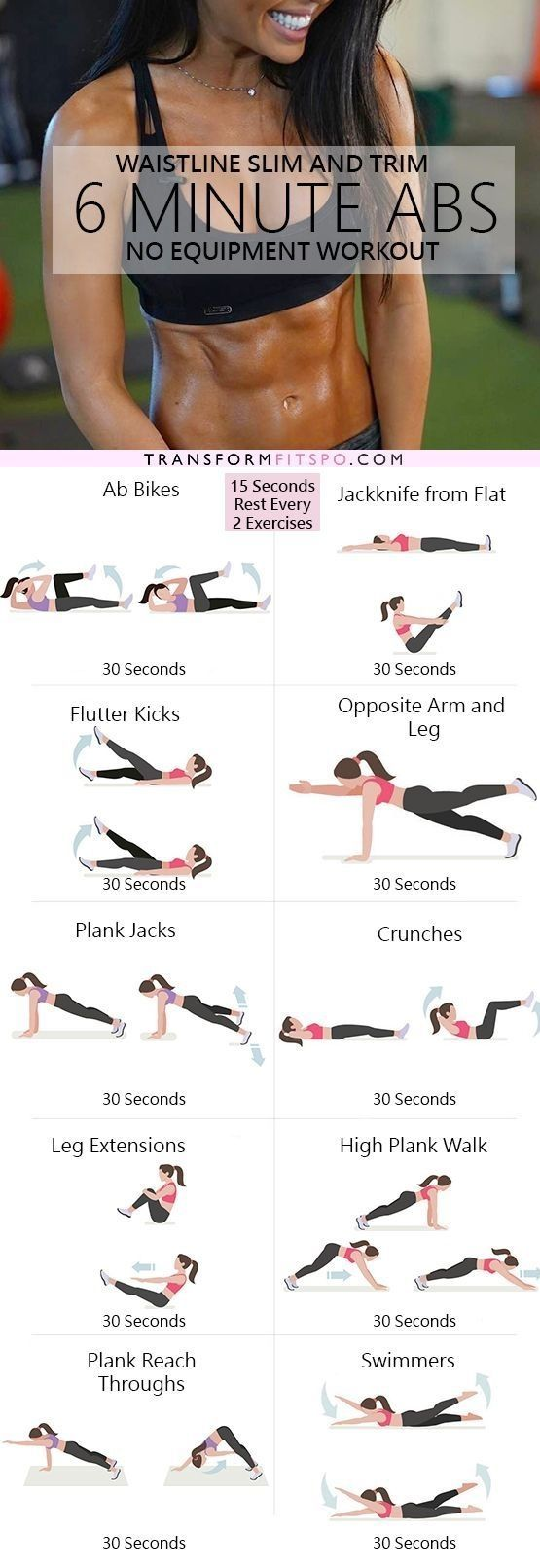 Get Slim and Trim with this 6 Minute Abs Workout by chasity