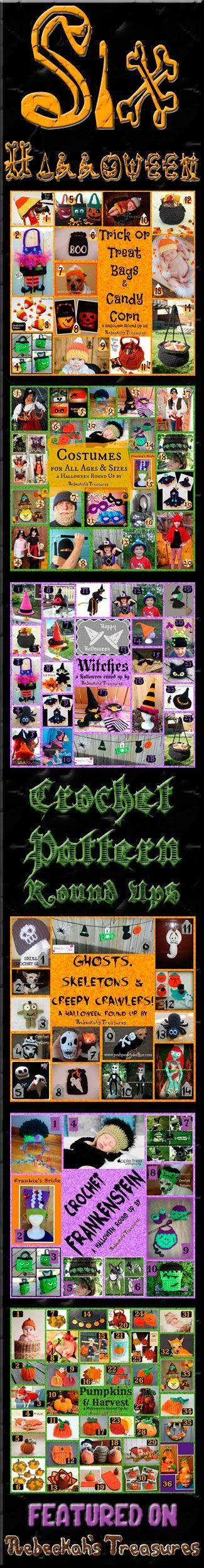 Six Halloween Crochet Pattern Round Ups via @beckastreasures - Featuring 26 designers and 100+ patterns!