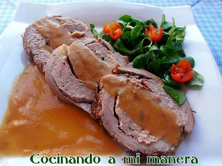 Menu de Fiesta 4 | Cocinar en casa es facilisimo.com Aleta de ternera rellena.