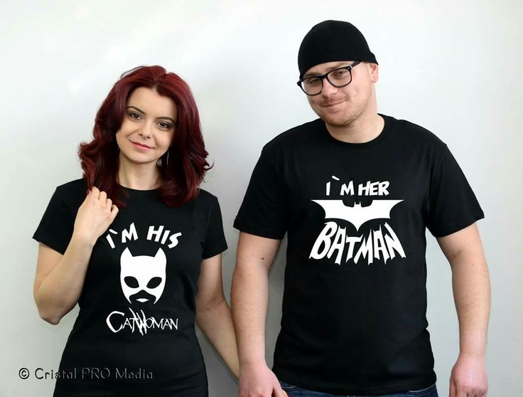 "Tricouri ""I`m her Batman & I`m his Catwoman""  Preț- 39 Lei/buc #Batman #Catwoman #tricouri #cupluri #cristalpromedia   Culoare: Alb / negru Mărime damă: S / M / L / XL Mărime bărbați: S / M / L / XL  ----------------------------- e-mail: cristal.promedia@yahoo.com mob: 0760 020 491 ----------------------------- Copyright © 2016 Cristal ProMedia"