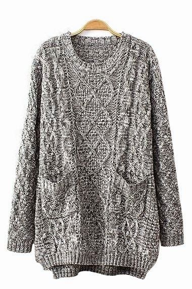 Every time I see someone ELSE wearing an oversize sweater, I love it. But I can't seem to find one that doesn't make me look like a slob.