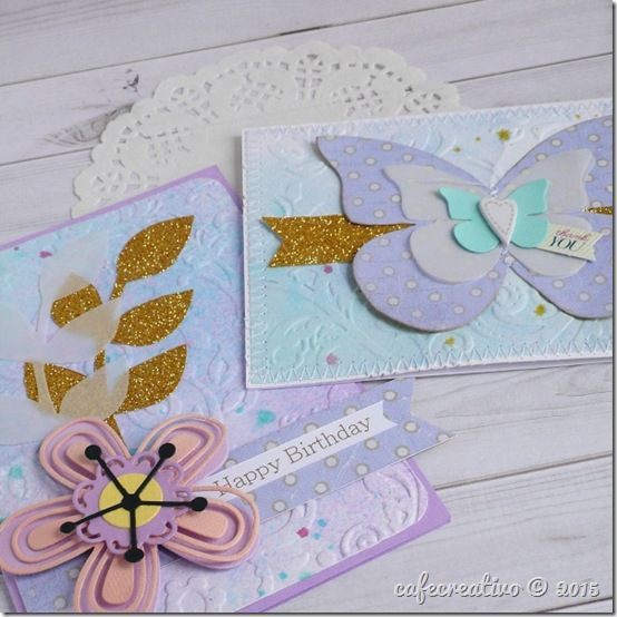 sizzix big shot plus - watercolor textured background - card by Anna Draicchio cafecreativo