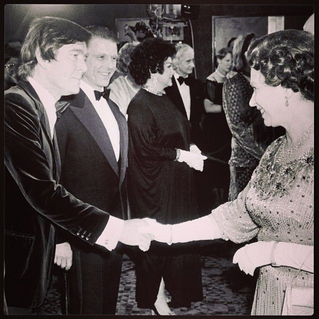 The Queen Meets Tom Courtenay At Royal Film Performance Of Dresser