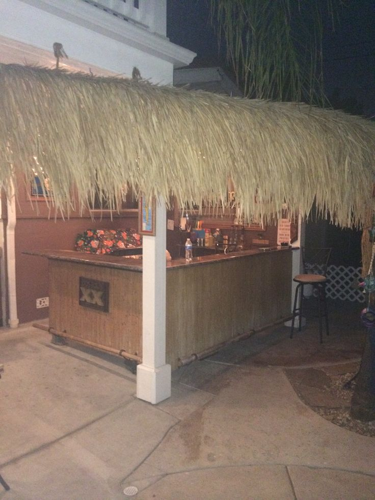 Tiki bar and thatched roof from customer Glenn