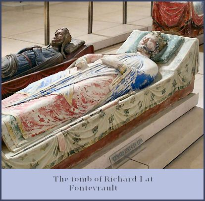 Tomb of Richard the Lionheart (1189-1199), next to him his wife Berengaria