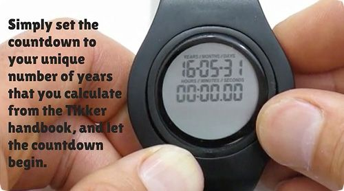 Este reloj es una cuenta atrás del tiempo que te queda de vida