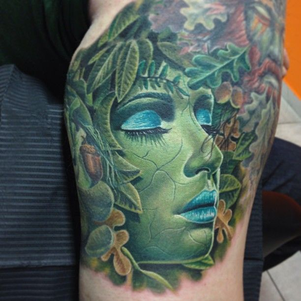 Mother Nature Tattoos: Like The Idea Of Mother Nature With Wind Water And Fire