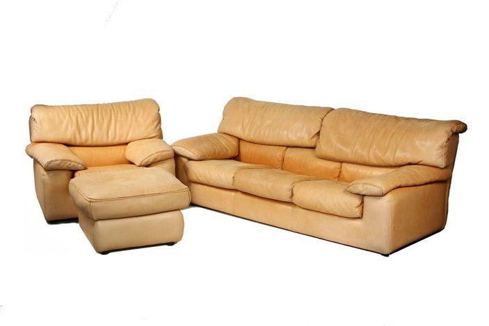 Sofa (+ Armchair W/ottoman; Set Of 3) By Roche Bobois