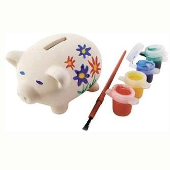 Paint Your Own Piggy Bank - £1.95