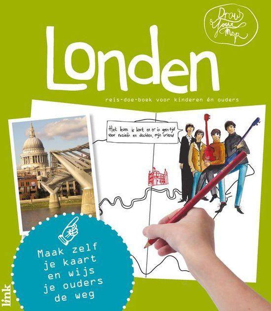 DrawYourMap Londen maakt een stedentrip leuk en leerzaam voor kinderen en ouders! Het is een reis-doe-boek voor reisleiders in de dop; kinderen worden uitgenodigd om hun eigen kaart van de stad te maken en zelf op ontdekkingstocht te gaan. Wist je dat de koning wil dat er altijd 6 raven in de 'Tower of London' zijn, of anders...? Je gaat op reis door Londen!