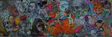 "Saatchi Online Artist Ryan Carlin; Collage, ""noodle and telephone doodles"" #art"