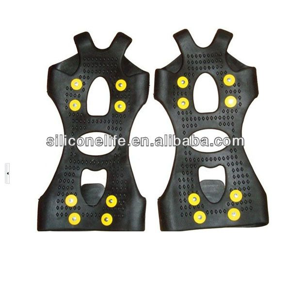 Hot selling antislip Shoes Cover Snow and Ice Shoes Spikes lower price silicone anti slip shoes cover