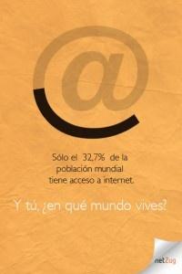Sólo el 23,7% de la población mundial tiene acceso a internet. Y tú, ¿en qué mundo vives?