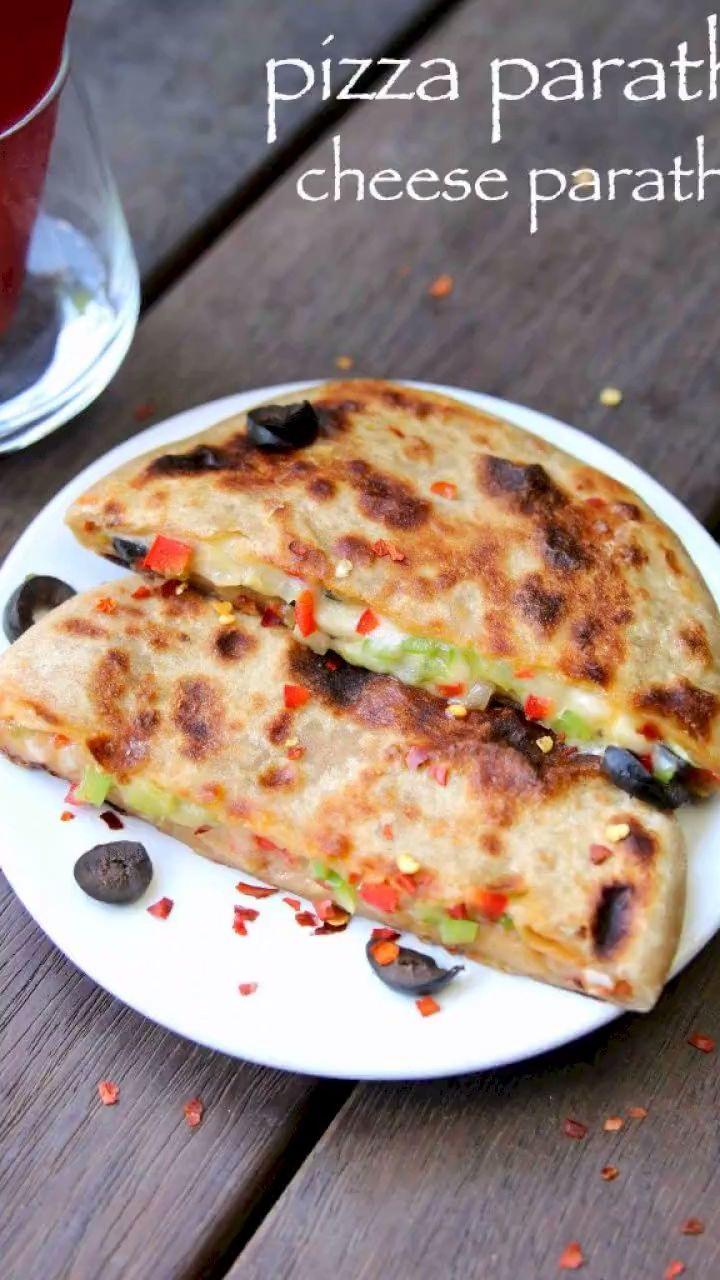 pizza paratha recipe   cheese paratha recipe   cheese stuffed paratha