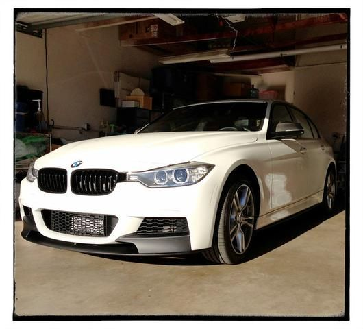 Upgrade your F30's front end by adding the BMW Performance replica front lip spoiler to your F30 M Tech bumper. Increase the cosmetic appeal of your BMW F30 3 Series Sedan, 2012+, while saving hundred