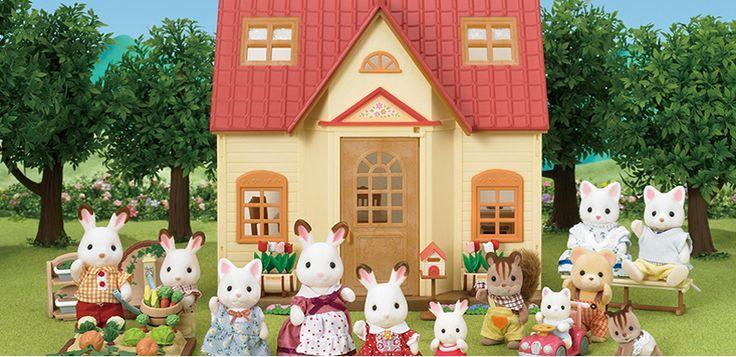正品日本森贝儿家族 森林家族巧克力兔 蜜兔公仔 女孩过家家玩具-tmall.com天猫