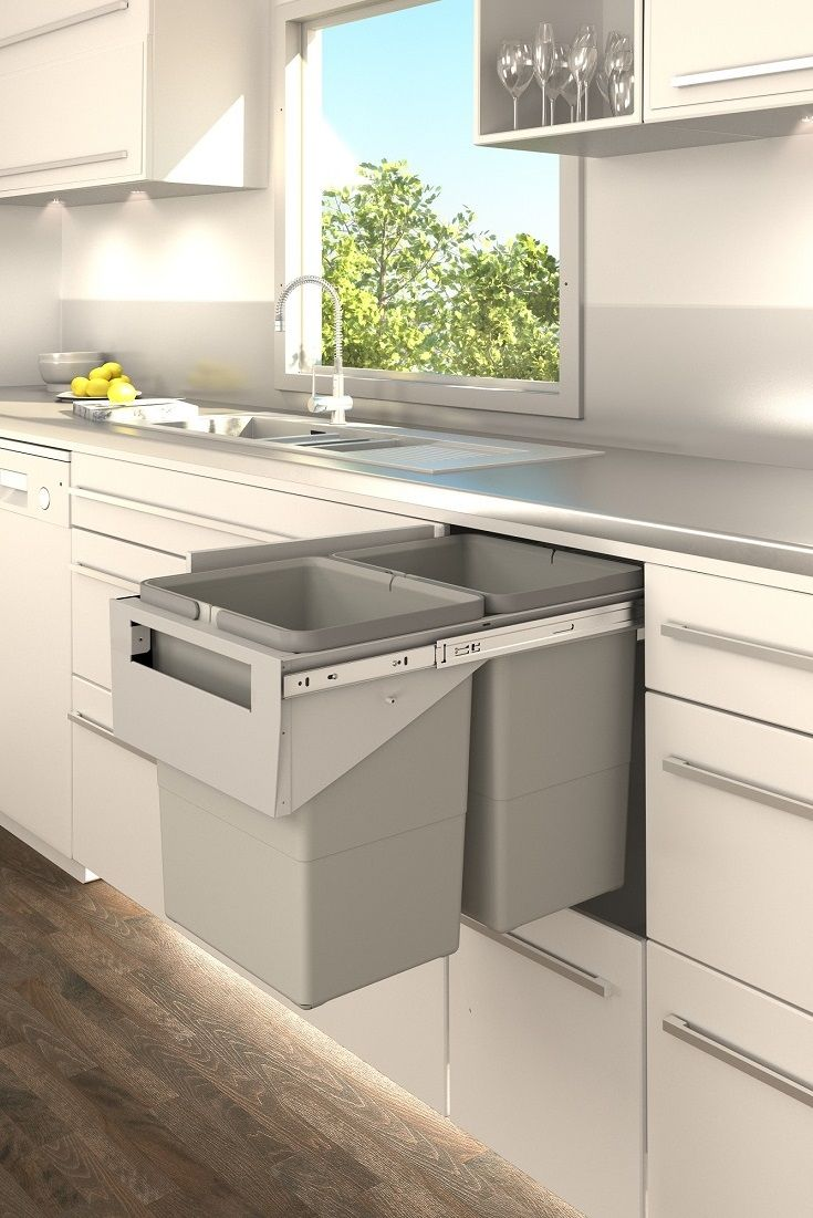 Tanova Pull Out Kitchen Bin In Handle Style; Designed To Install Behind A  Hinged Door