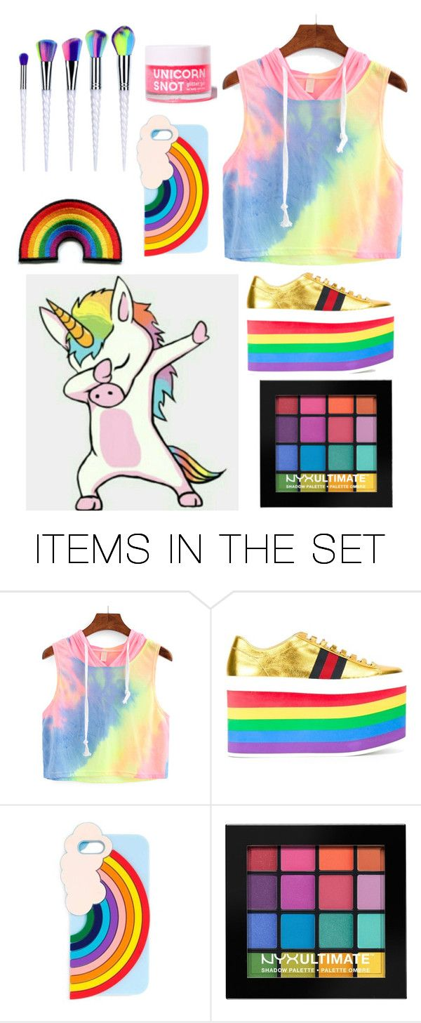 """Rainbows, unicorns, and glitter, oh my!"" by snmlammas ❤ liked on Polyvore featuring art"