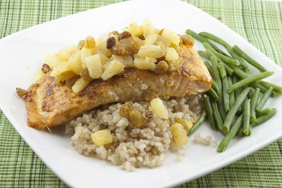 Indian Spiced Salmon with Pineapple Chutney | Yummy Food! | Pinterest