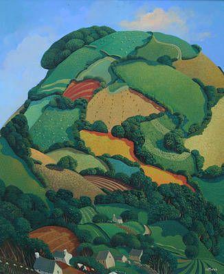 British Artist Jo MARCH-Barley Hill