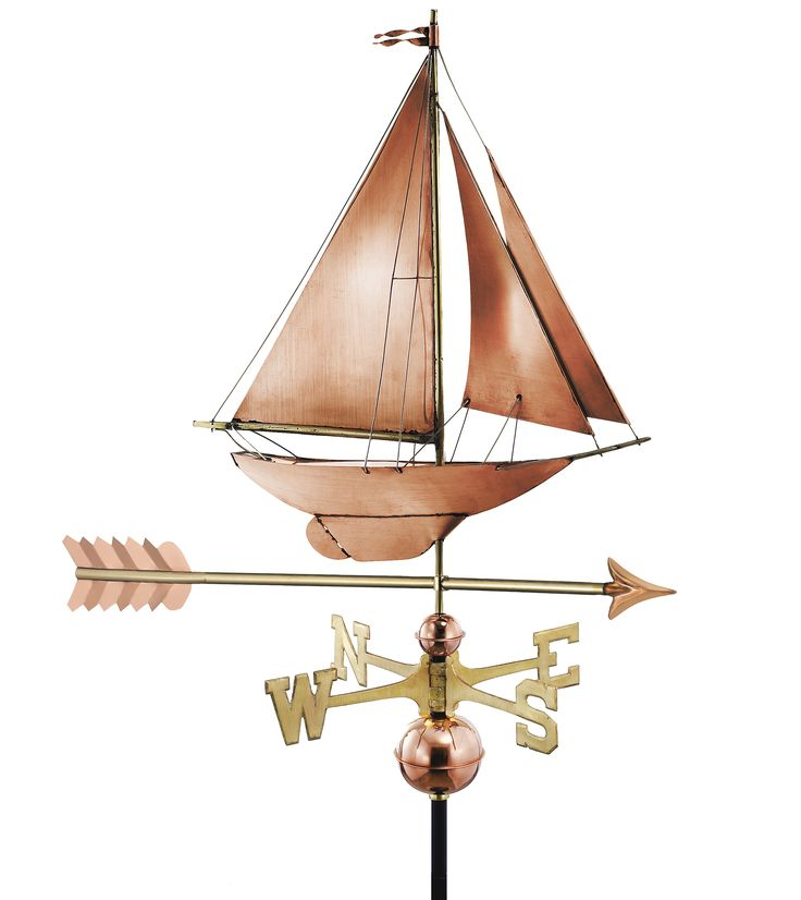 Racing Sloop with Arrow Copper Weathervane | GD-909PA