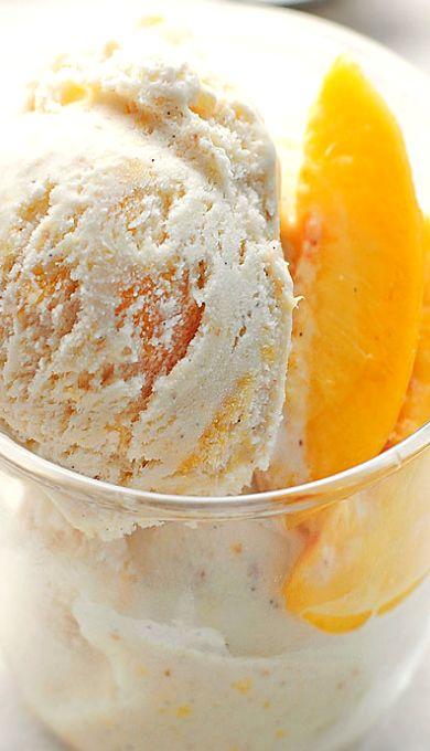 Homemade Peach Ice Cream | Recipe