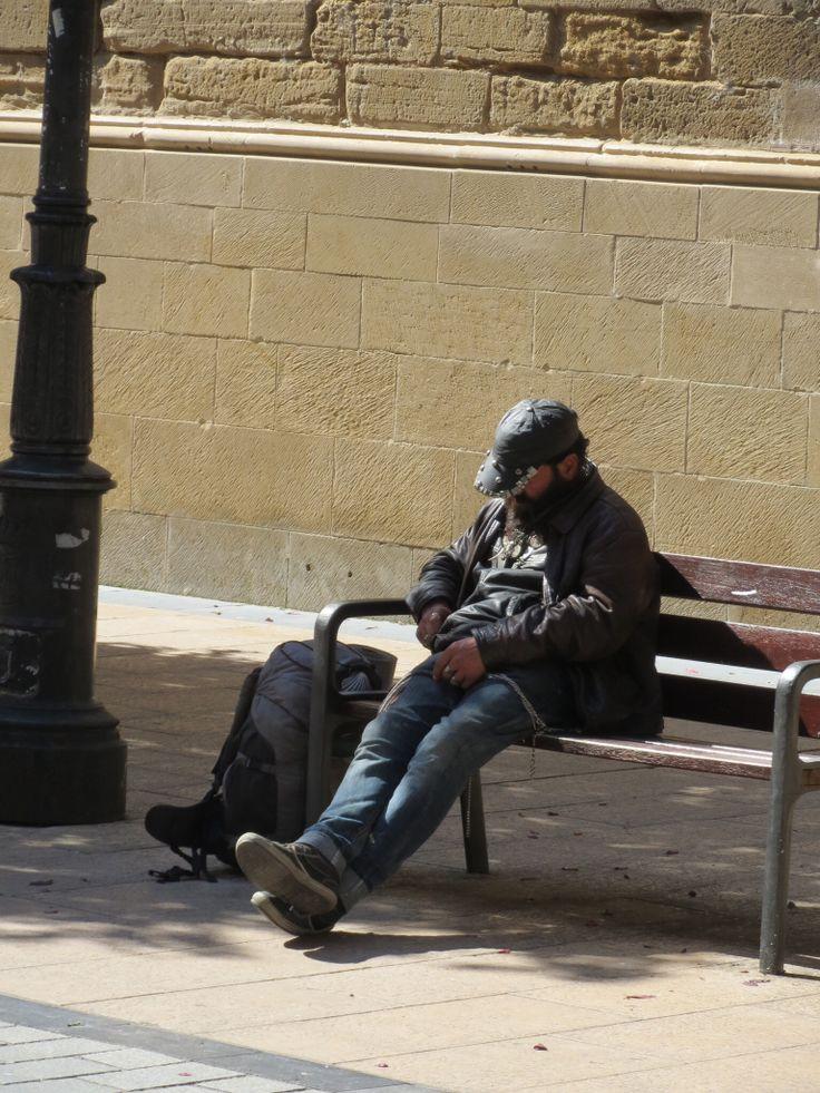 Pilgrim siesta in Logrono