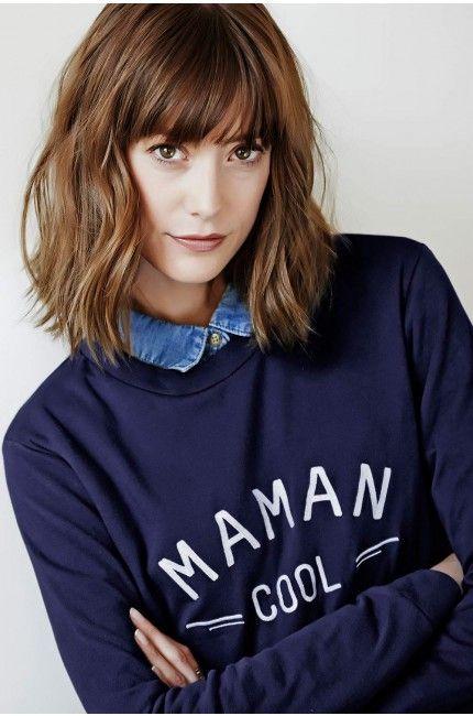 Sweat Maman Cool brodé bleu marine - Edition limitée EMOI EMOI - Photo