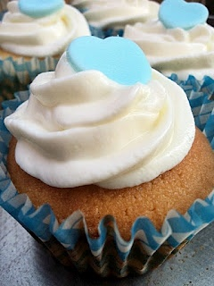 Citrónové cupcakes s tvarohovým krémom