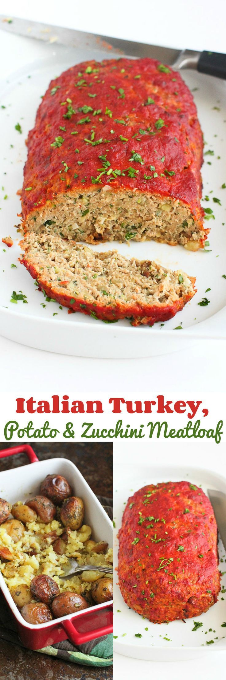Italian Turkey, Potato and Zucchini Meatloaf…Classic comfort food with a healthy twist! 152 calories and 4 Weight Watcher SmartPoints
