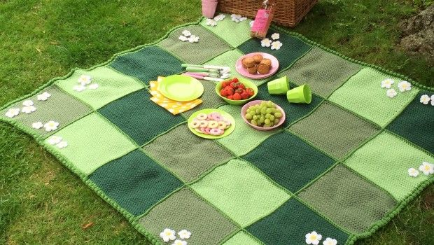 Crochet with Kate: the ultimate picnic blanket/ FREE CROCHET pattern/ picture tutorial