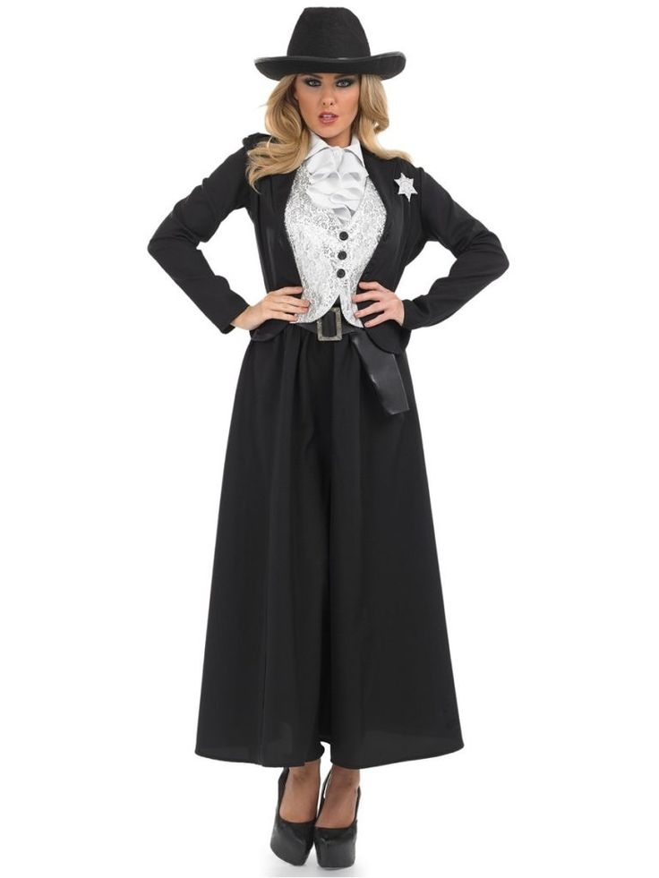 Adult Old Time Female Sheriff Costume