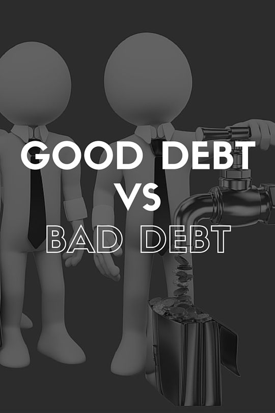 Consumer debt is about debt taken on to gratify small purchases like shoes, cars etc. INVESTMENT debt is quite different - the only decision you have to make with investment debt is whether it's good or bad debt. Good debt is any borrowing taken out at any interest rate as long as the ROI is bigger! Borrowing 5% with a ROI of 8% = GOOD DEBT. Borrowing 5% with a ROI of 3% = BAD DEBT. Read more in RICHES. #Wealth #Debt #Budget #Save #Money #Good #Investment #Consumer