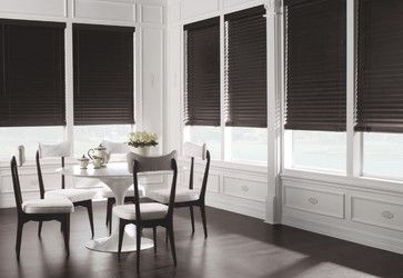 "Levolor 2"" Premium Wood Blinds in Ebony - traditional - Venetian Blinds - Houston - American Blinds Wallpaper and More"