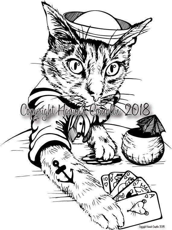 Sailor Cat Playing Poker By Hannah Complin Pdf Download 1 Extra
