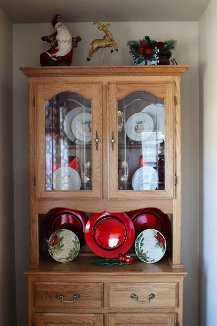 How To Style A Christmas China Cabinet China Cabinets China And Christmas China